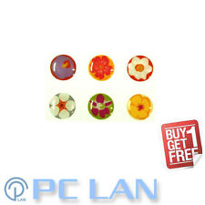 6 PCS Flower Pattern 2 Home Button Sticker for iPad 1/2/3/4 + Bonus Set