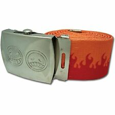 *NEW* One Piece: Ace's Hat Icon Fire Fabric Belt by GE Animation