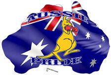 AUSSIE PRIDE BOXING KANGAROO WITH AUSTRALIAN FLAG STICKER