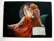 1942 Pin Up Girl Picture Blond on Phone Looking in Mirror by Dasase