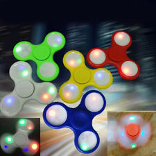 LED Light Shine in Dark Fidget Hand Spinner Finger Toy EDC Focus Fast Rotate
