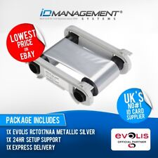 Evolis Metallic Silver Ribbon for Primacy/Zenius Printers • Free UK Delivery