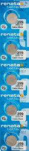 5 x Renata 399 Watch Batteries, SR927W Battery | Shipped from Canada