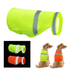 Pet Dog Safety Vest Reflective High Visibility Jacket Coat Clothes Small Large