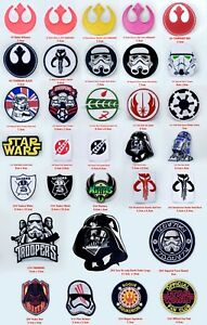 Star Wars movies collection Iron or sew on Embroidered Patches