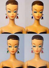 Lot 4 Barbie Repro Vintage FR Handmade Earrings Jewelry NE1354