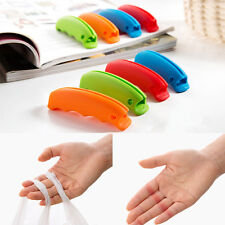 Silicone Bag Carrying Kit Bag Hanging Clip Shopping Kitchen Gadget Peachy