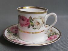 ROYAL WORCESTER ROYAL GARDEN DEMITASSE COFFEE CUPS AND SAUCERS 1ST QU (Ref3368)