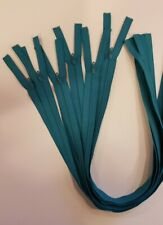 """Lot of 6 teal blue green zippers closed end 20"""" Talon without top stop"""