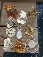 Brass Christmas Ornaments LOT of 10 Flat Metal Assortment Coca-Cola Vintage