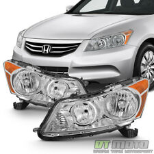 For Chrome 2008 2009 2010 2011 2012 Honda Accord 4Dr Sedan Headlights Headlamps