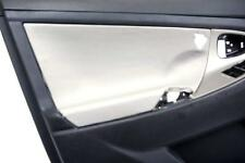 Front Door Panel Insert Cards Leather Synthetic for Toyota Camry 07-11 Gray