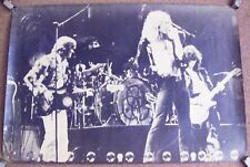 LED ZEPPELIN STUNNING RARE U.K. B &W LIVE ON STAGE PERSONALITY POSTER 1974-1975