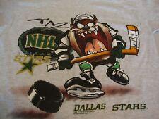 Vintage NHL Dallas Stars Looney Tunes TAZ Hockey T Shirt Kids Toddler Size 8