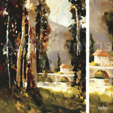 """Image 32""""x40"""" ITALIAN VILLA by TED GOERSCHNER NUMBERED #7/75 w/SIGNATURE S/N"""