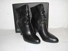 INC International Concepts New Womens Leather Tangy Black Boots 9.5 M Shoes NWB