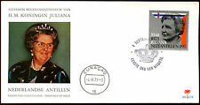 Netherlands Antilles 1973 Queen Juliana;s Accession Silver Jubilee FDC #C36233