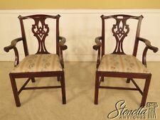 L41945B: Pair HENKEL HARRIS #101 Mahogany Dining Room Arm Chairs
