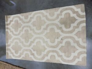 BEIGE / IVORY 3' X 5' Stained Rug, Reduced Price 1172573936 DDY537G-3