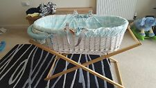 joules moses basket with wooden stand in great condition *******NOW SOLD*******