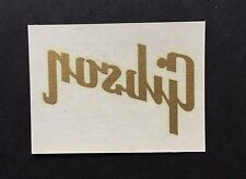 """Gibson- Vintage- Old Stock - Original """"GIBSON"""" Logo Decal from Kalamazoo factory"""
