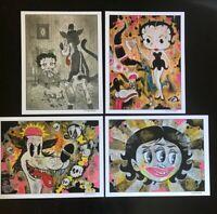 8.5x11 Set #6 WOLF Signed prints By Frank Forte Pop Surrealism Cartoon Dark Art