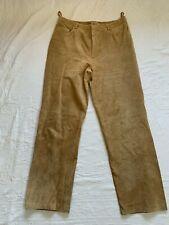 Beige Suede Trousers Brandon Thomas   UK16 Waist 35-36
