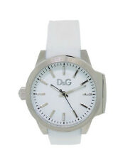 Dolce & Gabbana Time DW0746 Women's Round White Analog Silicone Left Stem Watch