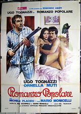 manifesto 4F film ROMANZO POPOLARE Ugo Tognazzi Ornella Muti M.Monicelli 1974