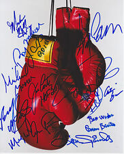 TARVER SPINKS NORRIS 12 Boxing Champs Autograph Signed 8x10 Picture Photo PSA