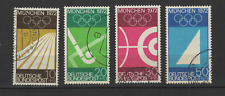 Bundespost ALLEMAGNE 1969 Jeux Olympiques de 1972 4 timbres oblitérés /T3340