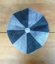 Black And Grey Harris Tweed Bakerboy Cap, Newsboy Hat, Medium 57-58cm.