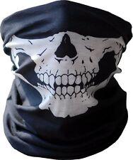 Skull Half Face Bandana Skeleton Ski Motorcycle Biker Paintball Mask Scarf B/W