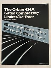 Orban 424A Gated Compressor/Limiter/De-Esser Sales Brochure 1980s