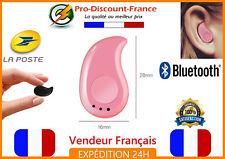 Mini Oreillette Bluetooth 4.1 Ecouteur Kit Main Libre Discrète Smartphone Rose