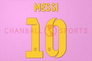 Messi #10 2012-2015 Barcelona Home/3rd Awaykit Nameset Printing