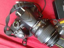 Nikon D3200 Digital Camera - Black 18-55mm lens flash charger battery