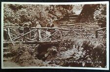 RPPC Isle of Man UK Postcard Early 1900s Rare Sulby Bridge Tholt-E-Wil Glen Fash