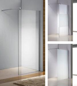 Duschabtrennung Glas Duschwand Walk In NANO Duschkabine 10mm Milchglas Klarglas
