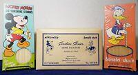 RARE Shipping Box Disney Mickey Mouse Donald Duck Sunshine Straws w/ Straws