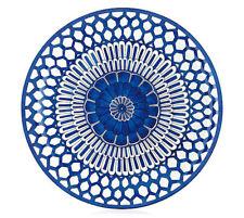HERMES Porcelain Bleus d'Ailleurs Large Plate Tray Tableware Interior Ornament
