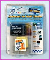 INK STATION HP 95 / HP 97 AUTOMATIC TRI-COLOR INKJET Cartridge REFILL SYSTEM NEW