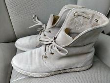 Louis Vuitton Suede Leather Espadrilles Sneakers Trainers Shoes Monogram Camel
