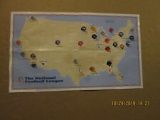 New listing NFL Teams of the National Football League 28 Teams Color Football Helmets Poster