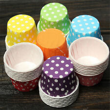 100 x high quality paper MINI Muffin Cup Cake Liner Baking Cases Various Color