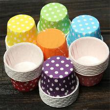 100x Papier MINI Muffin Cup Cake Liner Backen Fälle verschiedene Farben UUDE