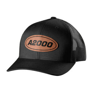 Wilson A2000 Snapback Baseball Hat with Leather Patch - WTA7115BLOSFM