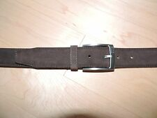 Hugo Boss Brown Gray Leather Suede Dress Belt 30 32 34 36 38 40 42 44 SESILY