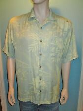 Tommy Bahama Relax Mens Medium Silk Hawaiian Floral Shirt Short Sleeves EUC