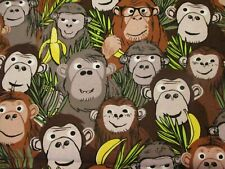 Monkey Business Fabric Collection Gone Bananas by Springs Creative bty